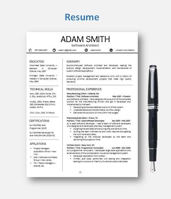 62 best Professional Resume images on Pinterest Mac, Etsy and - mac pages resume templates