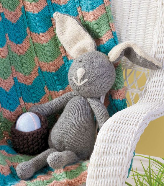 #DIY Bunny Stuffed Animal | FREE Pattern available on Joann.com: Knitting Projects, Knit Crochet, Craft, Bunny, Knitting Crochet, Baskets, Bunnies, Diy, Art Projects