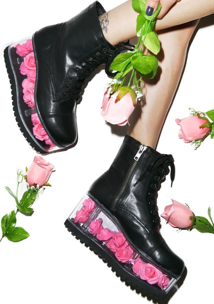 Y.R.U. X Dolls Kill G.I. Rose Platform Boots | Dolls Kill