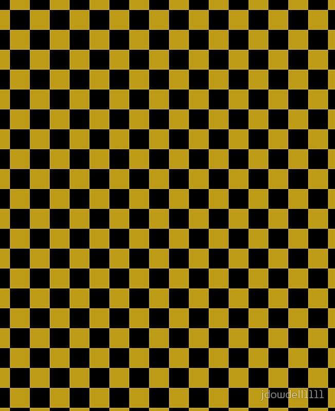 Black And Gold Foil Checkered Squares Pattern Black Wallpaper