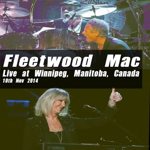 Fleetwood Mac bootleg CD artwork for Winnipeg show on 10th Nov 2014