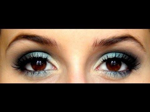 Maquillage de soirée: Blue Lagoon