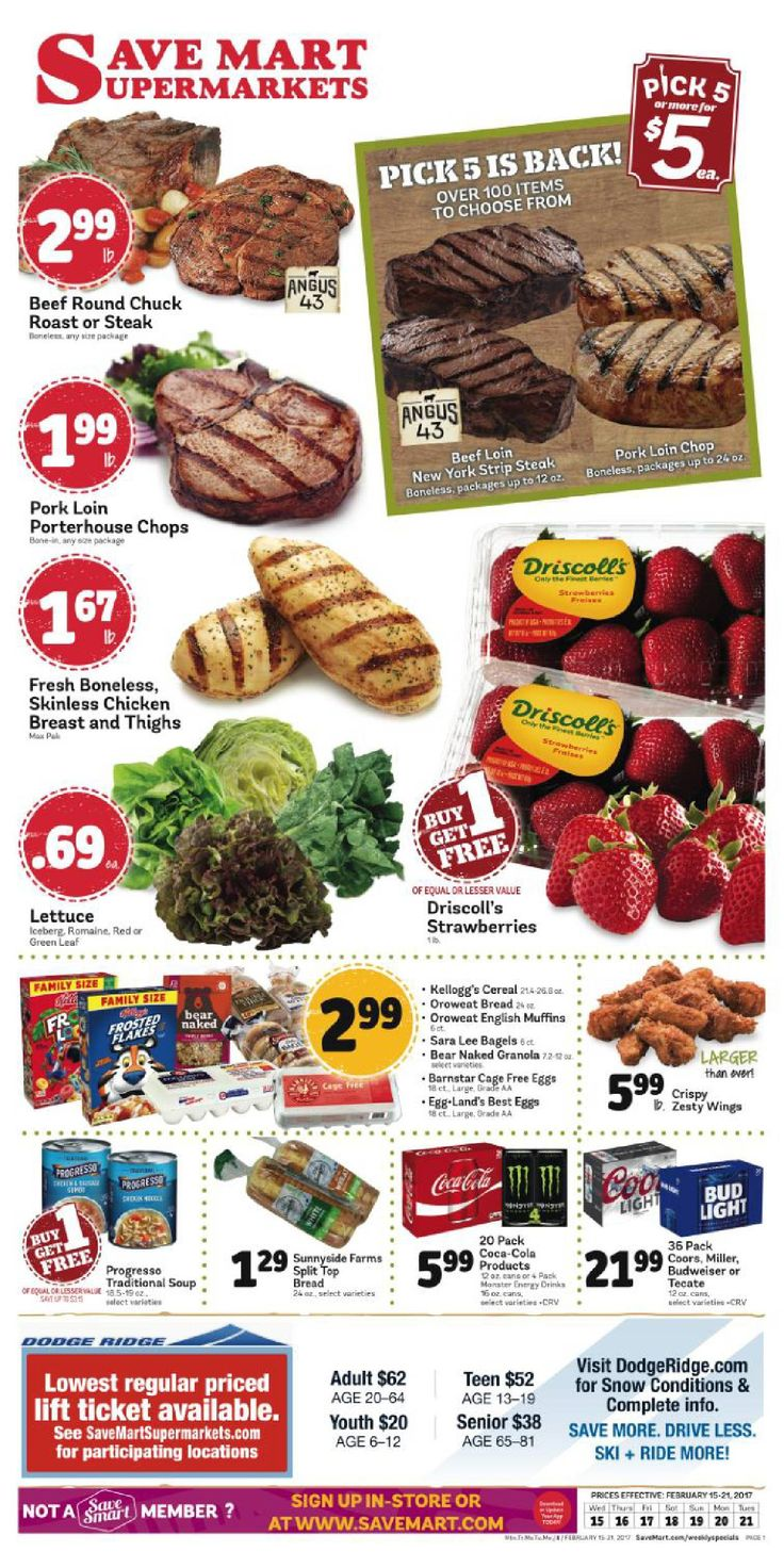 Save Mart Weekly ad February 15 - 21, 2017 - http://www.olcatalog.com/save-mart/save-mart-weekly-ad.html