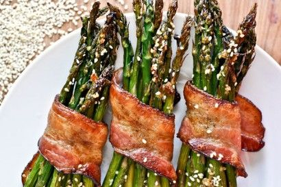 Bacon Wrapped Caramelized Sesame Asparagus | Tasty Kitchen: A Happy Recipe Community!