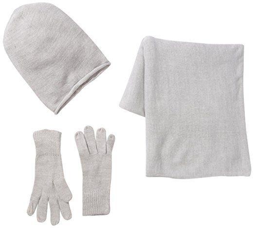PIECES Damen Mütze, Schal & Handschuh-Set PS Kalia Set, Einfarbig, Gr. One size, Grau (Light Grey Melange) #Sale #reduziert #mode #fashion #modern #marken #kleidung #women #frau #Winter #mütze #schal #handschuhe