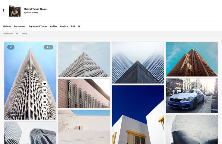 Material Tumblr Theme for Photographers #tumblr #theme #webdesign #ui #mobile #photographer #photography #portfolio #inspire #gallery #themeforest