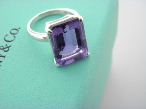 eb3de1ef8 TIFFANY&CO Tiffany Sparklers Amethyst cocktail ring Sterling Silver | My  Fav's: Places-People-Creatures-Items I just Like | Tiffany co rings, ...