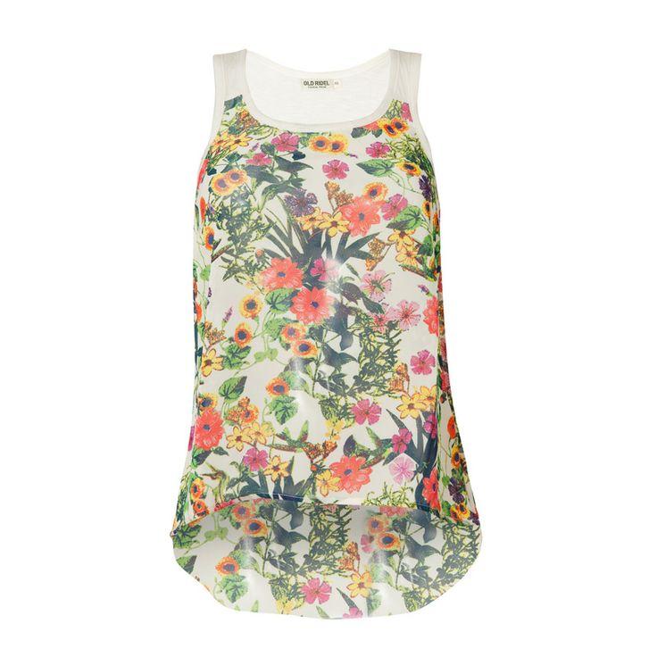 Camiseta mujer estampada flores primavera verano 2014 www.oldridel.com