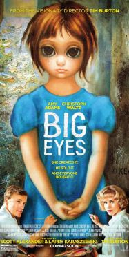 Cartel película Tim Burton, big eyes