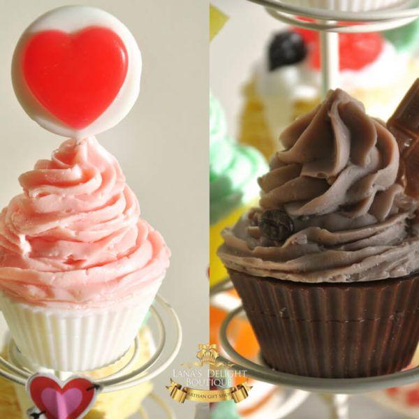 St. Valentine`s cupcakes soap