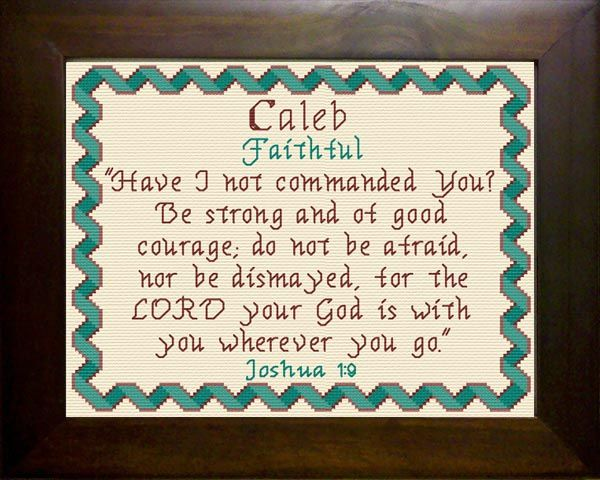 Name Blessings - Caleb4 - Personalized Names with Meanings and Bible Verses