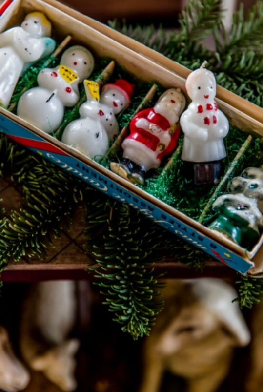 """These cute Christmas candles are from our feature """"The more the merrier"""""""
