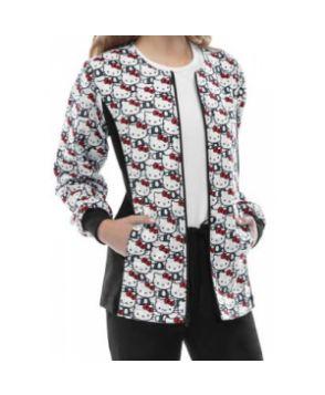 Cherokee Tooniforms Hello Kitty Always print scrub jacket - Hello Kitty #nursing #scrubs | Shop @ NursingClothes.com