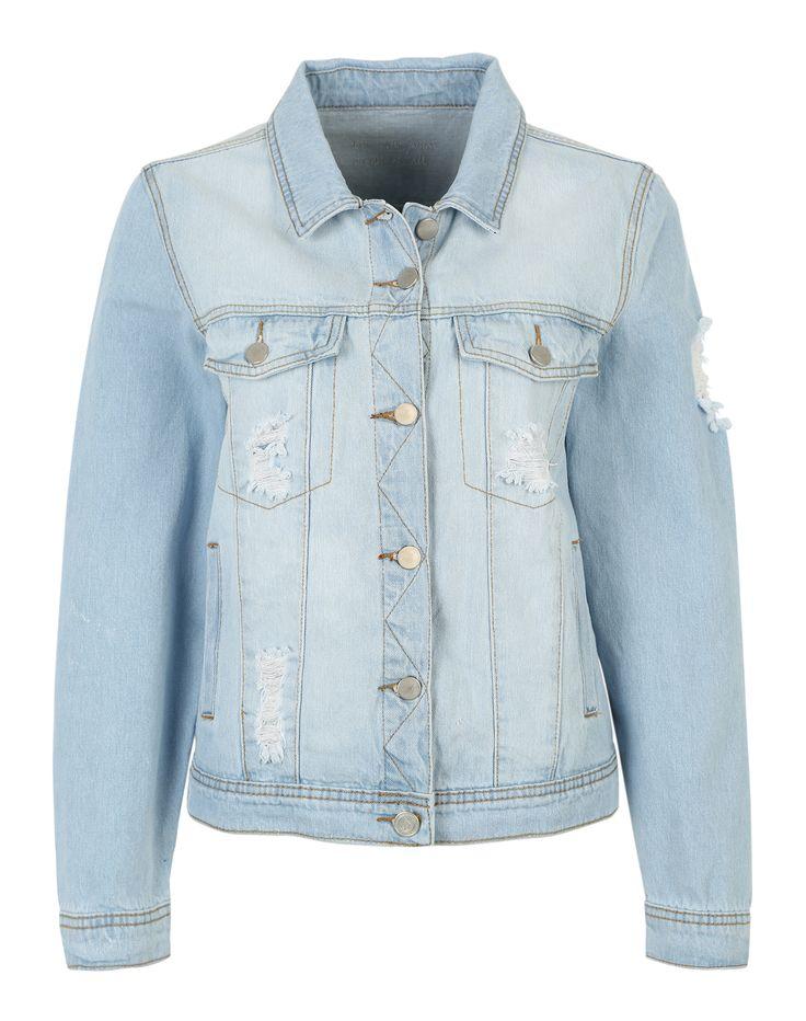 Mit dieser Jeansjacke von Sister Point liegst Du das ganze Jahr im Trend @ABOUT YOU http://dein.aboutyou.de/p/sisters-point/jeansjacke-mandy-2250685