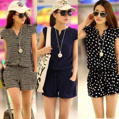 Free shipping Big sale! New 2014 fashion women's cotton shorts ladies Siamese Shorts 3 colors S-XXXL WF-496