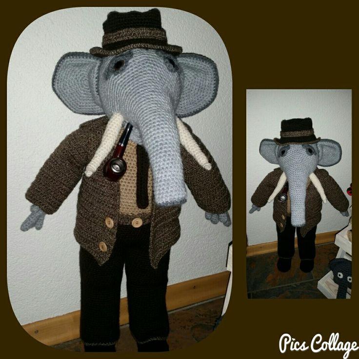 Boris de olifant gehaakt