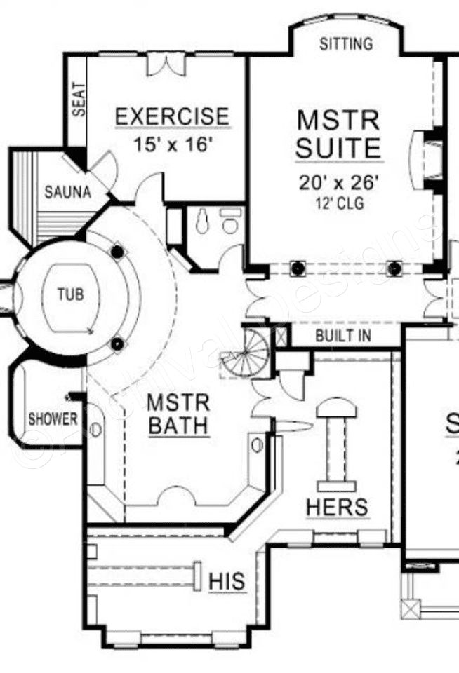 Wesmere House Plan (With images) | Master suite floor plan ...