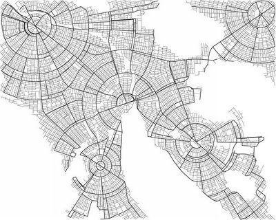 conceptURBANIZATION: Pytr 75, Digital Cities, Pascale Mueller, Maps, Radial 2,  Radios Reflector, Radial2, Cities Engine, Given Visual