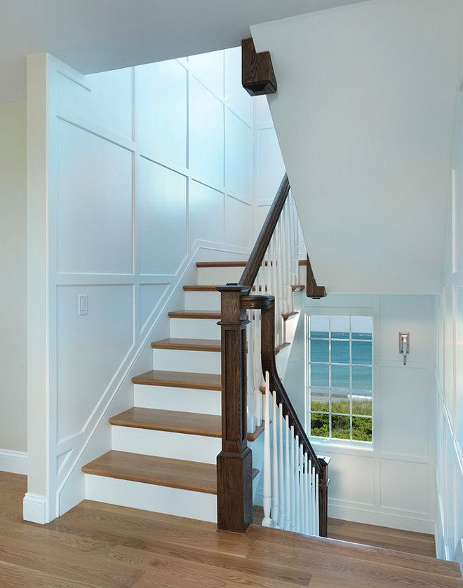 Staircase Paneling Wall Ideas. Wall Panels Staircase Design Ideas. Wainscoting  Stairs. Davitt Design