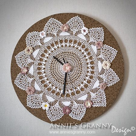 Crochet clock by Annie's Granny Design