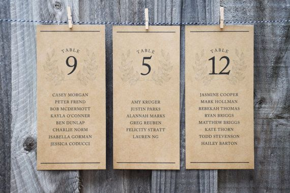 Rustic Wedding Seating Chart PRINTABLE Seating by littleseedgifts