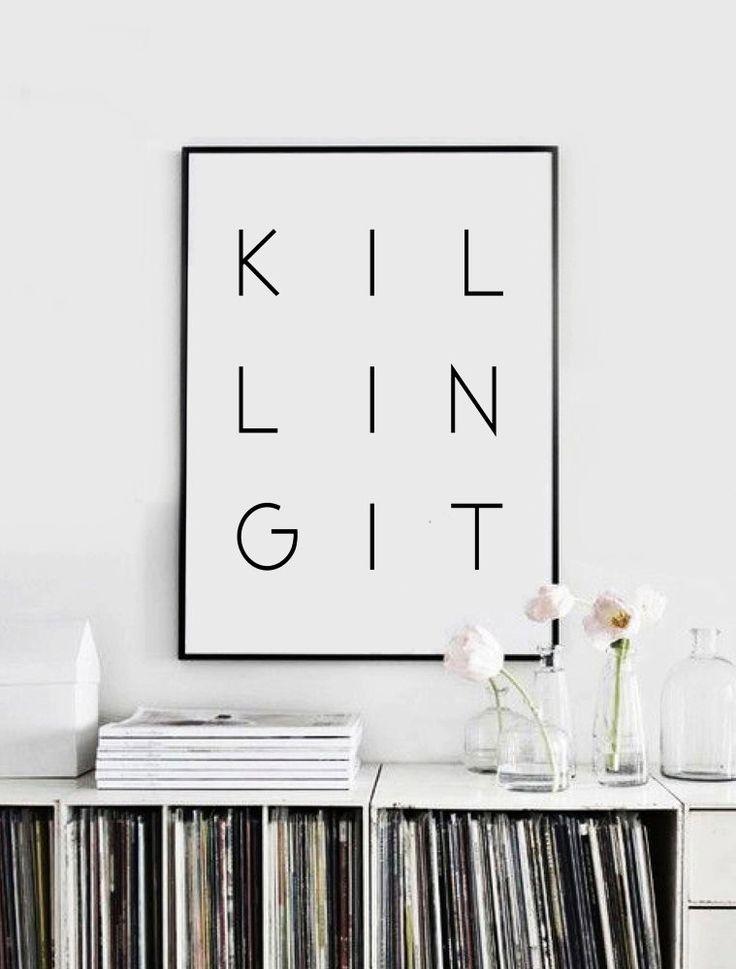 Printbare Poster doden het typografie Poster door CHICxBOUTIQ