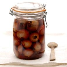 Pickled Shallots in Sherry Vinegar - perfect for a Ploughman's