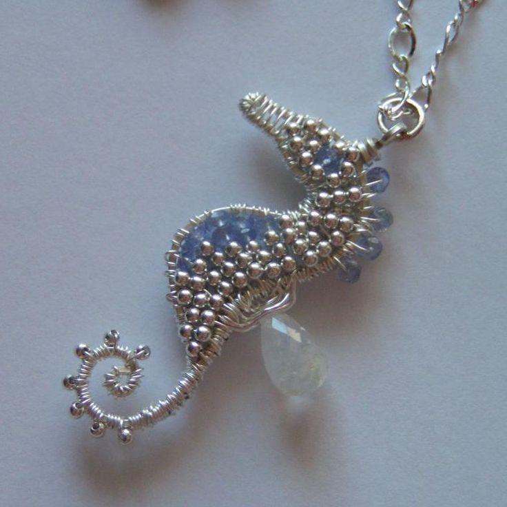 FOUND THE TUTORIAL!!! Tanzanite Seahorse Necklace | JewelryLessons.com
