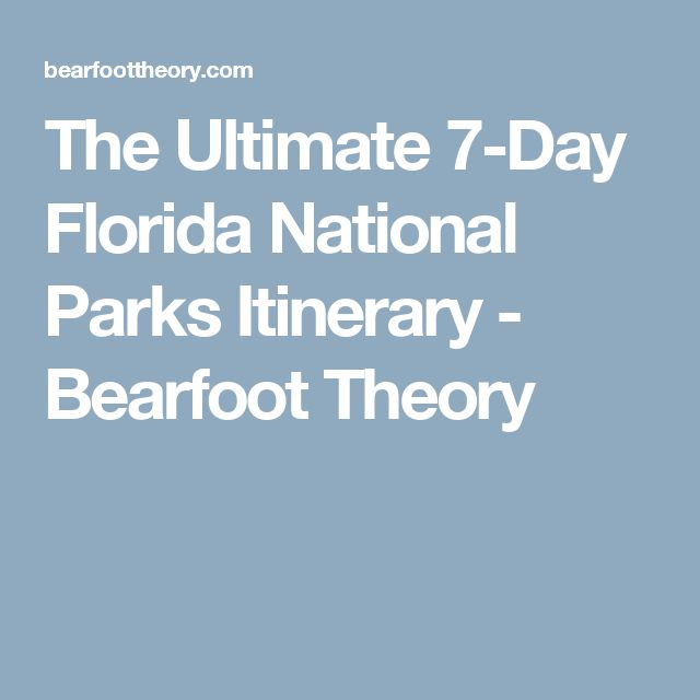The Ultimate 7-Day Florida National Parks Itinerary - Bearfoot Theory