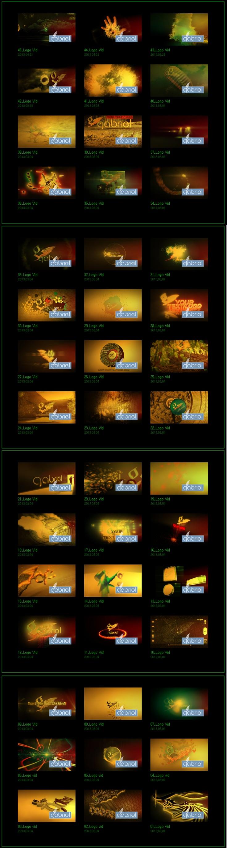 5,000원에 40여가지 로고,타이틀,인트로 영상 제작 (각종이벤트영상제작)