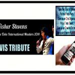Fisher Stevens Elvis tribute is regarded in the tribute world as an excellent entertainer and Elvis impersonator interviewed and appeared on local and national tv & radio
