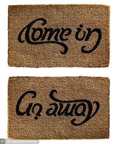 haaaahaha, nice door mat