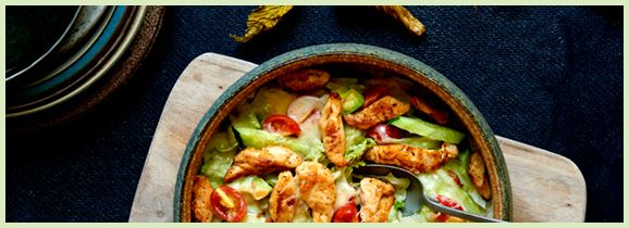 Grillet salat med kalkun og mozzarella - LIDL - Det betaler sig