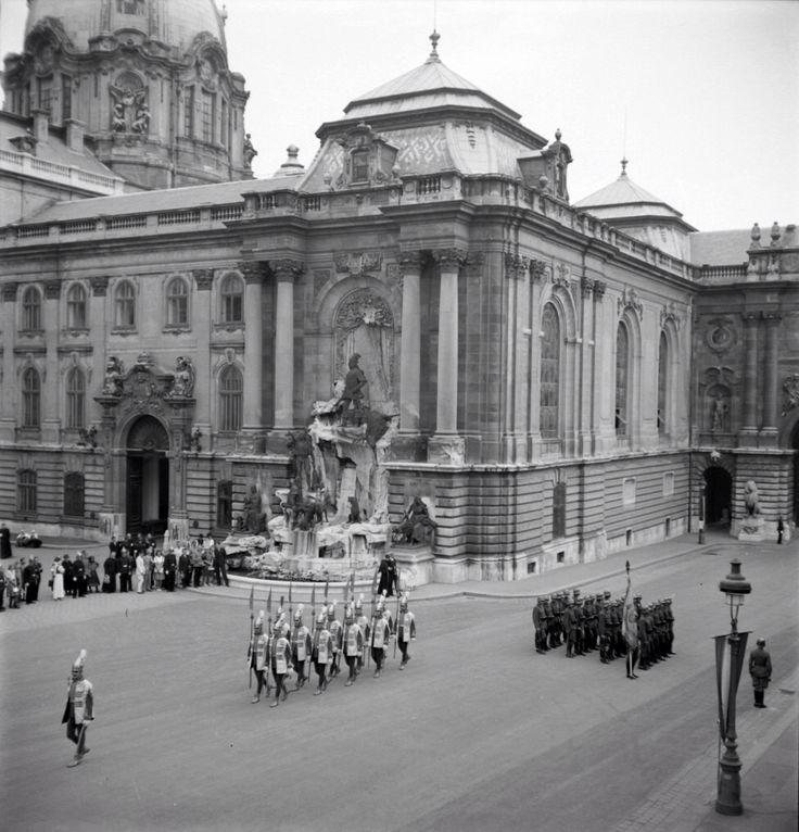 Matthias fontein in koninklijk paleis Boedapest