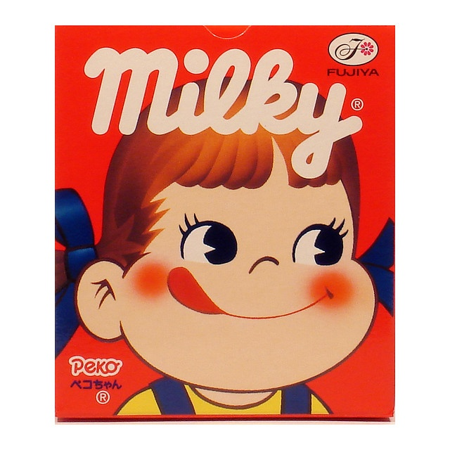 Milky candy with picture of Peko-chan. My favorite candy as a child.