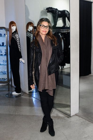 Gina Gershon attends Freeway Sunglass Reception At Maxfield on December 11 2013 in Los Angeles California