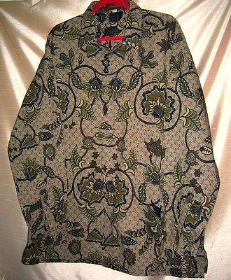 Danar Hadi Tulis Halus Batik Museum Mens Shirt  Size 4L