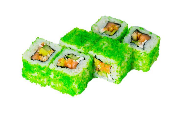 Окинава Мясо краба, угорь, сыр «Филадельфия», авокадо, огурец, соус «Кимчи», икра «Тобико» Вес: 180 г 370.00 руб.
