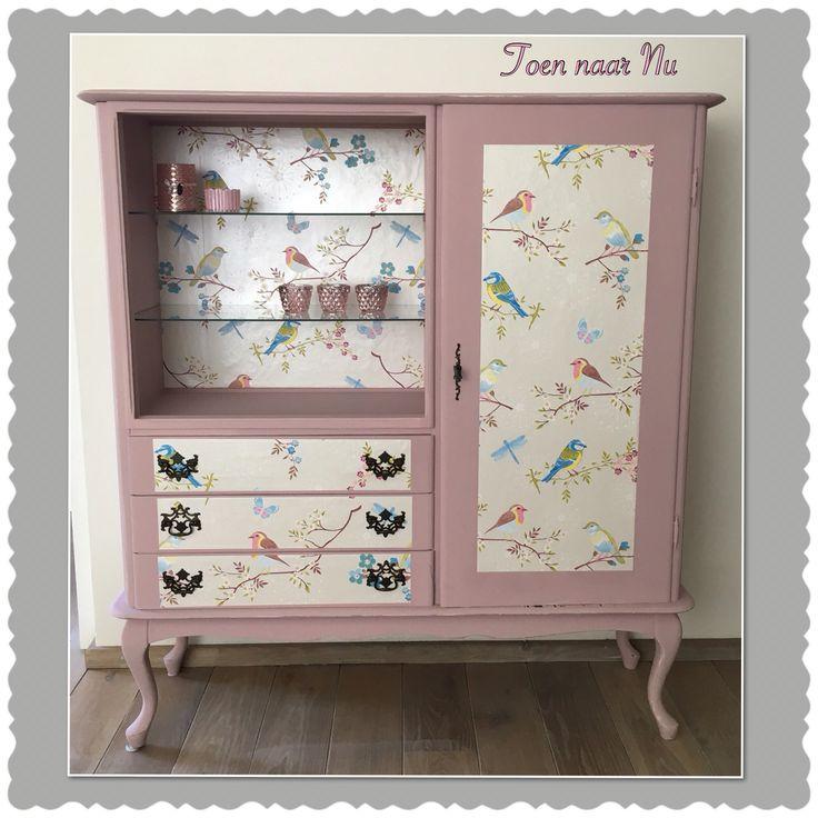 25 beste idee n over roze kast op pinterest beschilderde kast binnenkant lichtroze muren en - Kwekerij vinylvloer ...