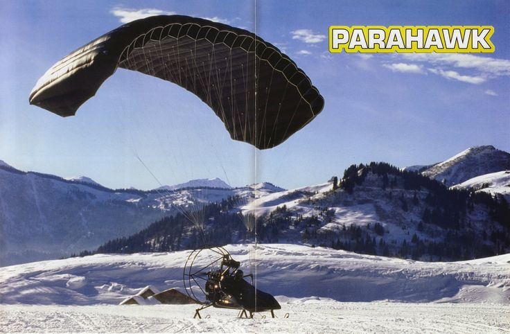 ParaHawk James Bond Peirce Brosnan Para-Motor Skidoo