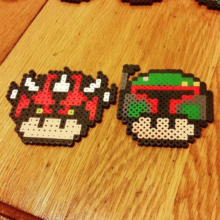 Star Wars mushrooms perler beads by perler_magic