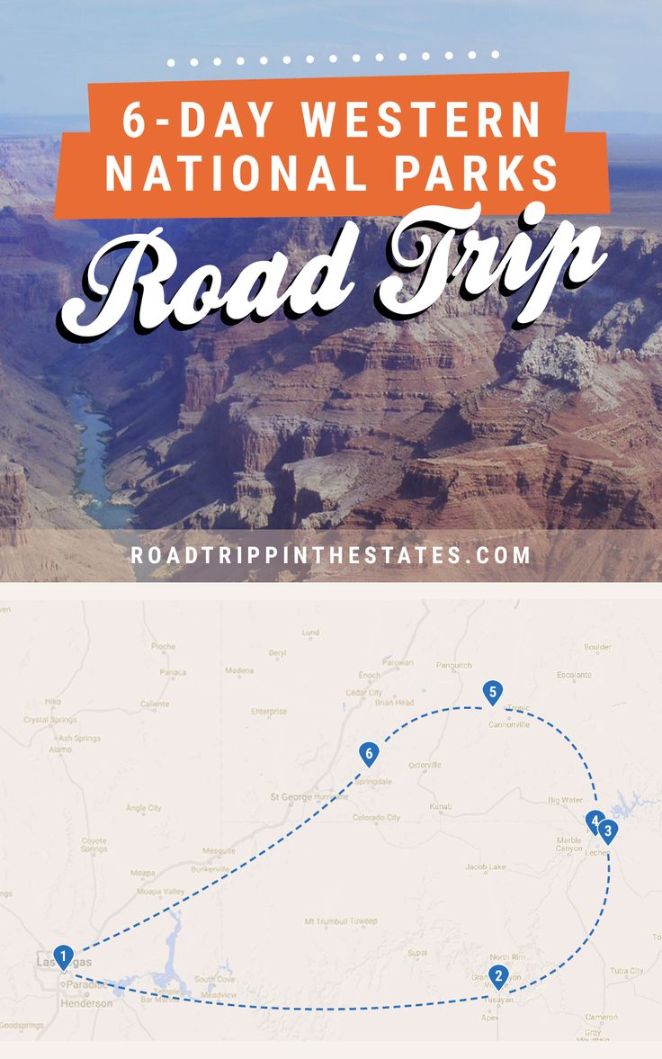 Epic 6 day western national parks road trip from Vegas - hits the Grand Canyon, Antelope Canyon, Bryce Canyon, and Zion National Park! / Click through for the full itinerary at Road Trippin' The States