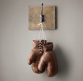 Vintage Leather Boxing Gloves from Restoration Hardware