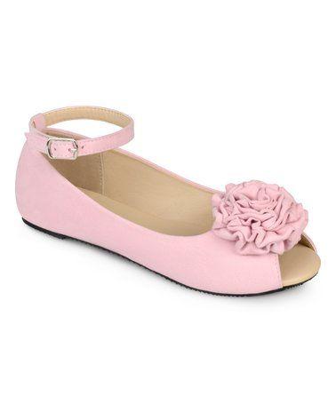 Pink Fleur Ballet Flat #zulily #zulilyfinds