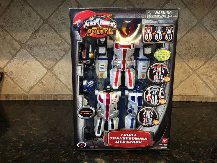 Power Rangers Operation Overdrive Triple Transforming Megazord ~ Set A ~ Opened Never Played with by AlfsMusicAndSports on Etsy