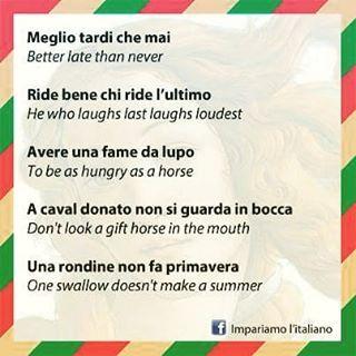 Proverbi italiani e inglesi