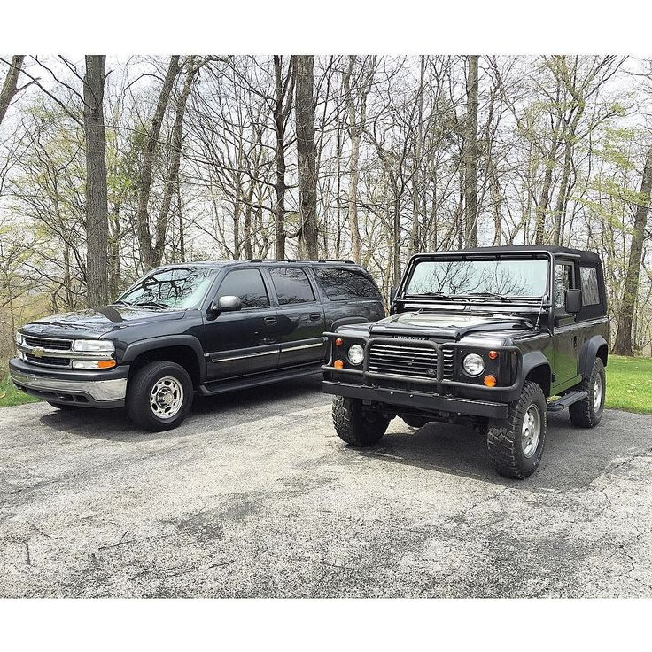 Totally different but both serve their purpose to the fullest... _ _ #LandRover #Defender #D90 #Defender90 #overland #adventuremobile #4x4 #LandRoverDefender #Chevrolet #2500 #Suburban #ForSale by davidthecarguy Totally different but both serve their purpose to the fullest... _ _ #LandRover #Defender #D90 #Defender90 #overland #adventuremobile #4x4 #LandRoverDefender #Chevrolet #2500 #Suburban #ForSale