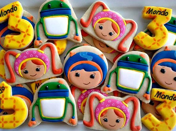 Team Umizoomi Birthday cookies two dozen by LuxeCookie on Etsy