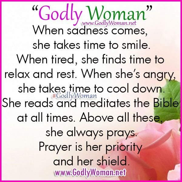 8 best women of god images on pinterest christian quotes bible a godly woman her shield and her priority is prayer resting and relaxing today thecheapjerseys Choice Image