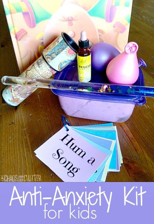 Create an Anti-Anxiety Kit for Your Child - includes free printable relaxation prompt cards - SO HELPFUL!